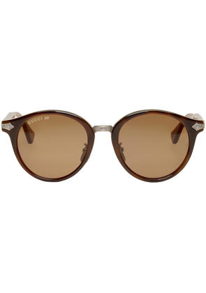Gucci Tortoiseshell Layer Web Sunglasses