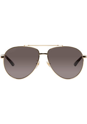 Gucci Gold Retro Aviator Sunglasses
