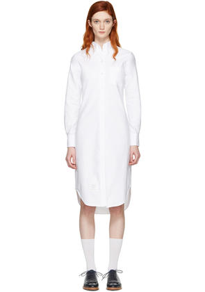 Thom Browne White Classic Shirt Dress