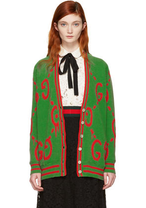 Gucci Green Oversized Guccighost Cardigan