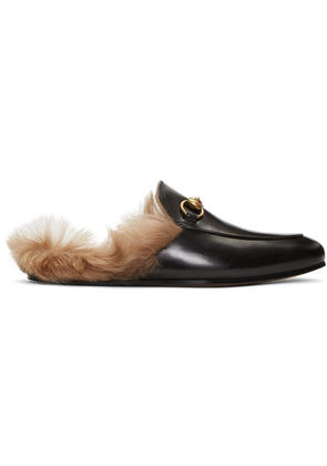 Gucci Black Princetown Slip-on Loafers