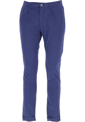 Pants for Men On Sale, Denim Blue, linen, 2017, 32 34 Daniele Alessandrini