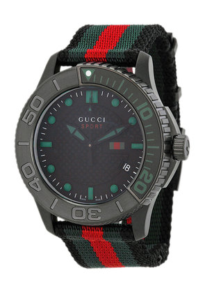 Gucci Watch for Men, Black, Stainless Steel, 2017