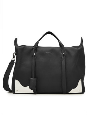CALVIN KLEIN 205W39NYC Leather Duffle Bag with Metal Hardware