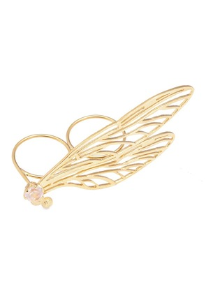 'Double Dragonfly Wing' knuckle ring