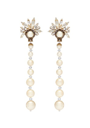 'Sincerely Yours' Swarovski crystal faux pearl drop earrings