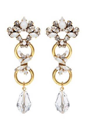 'Sincerely Yours' Swarovski crystal abstract drop earrings