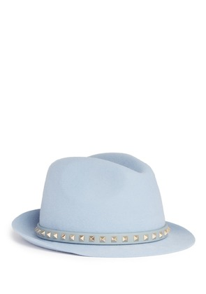 'Rockstud' band rabbit furfelt fedora hat