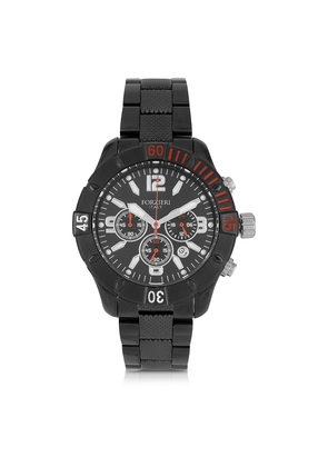 Forzieri Men's Watches, Kimi Black and Red Stainless Steel Men's Watch