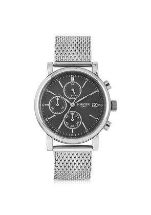 Forzieri Men's Watches, Berlino Silver Tone Stainless Steel Men's Chrono Watch