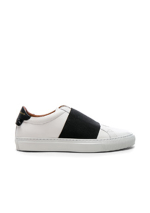 Givenchy Leather Urban Street Elastic Strap Low Sneakers in White