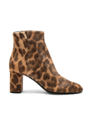 Saint Laurent Pony Hair Loulou Pin Boots in Brown,Animal Print