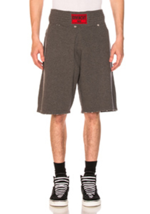 Givenchy Distressed Sweatshorts in Gray