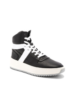 Fear of God Leather Basketball Sneakers in Black