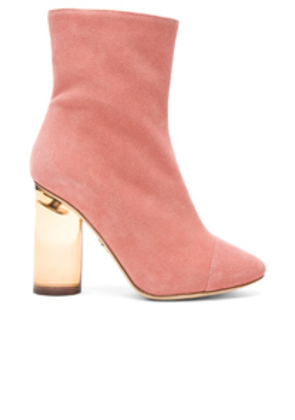 Brother Vellies Suede Bianca Boots in Pink