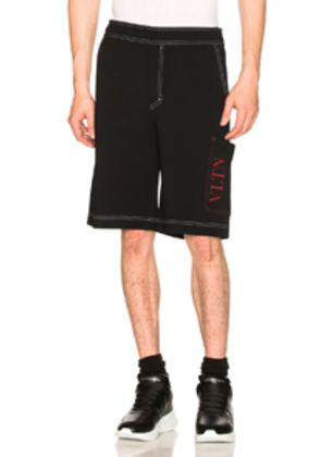 Valentino Drawstring Shorts in Black