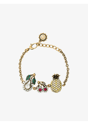Gucci Crystal Fruit Charm Bracelet