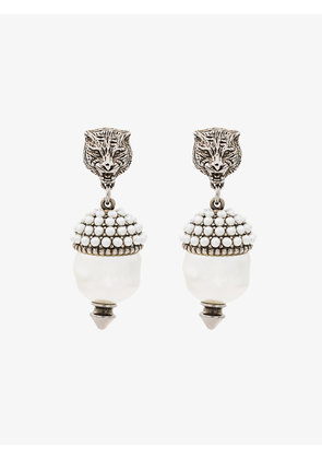 Gucci Feline Faux Pearl Earrings