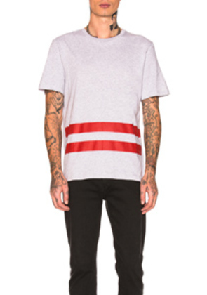 Helmut Lang Re-Edition Red Stripe T-Shirt in Gray