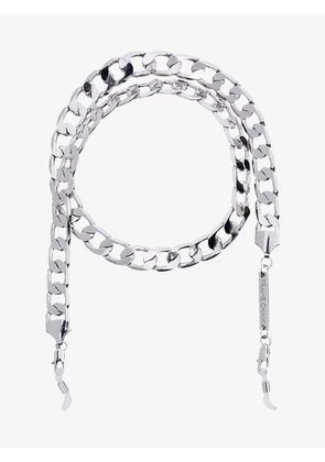 Frame Chain White Gold Plated Eyefash Necklace