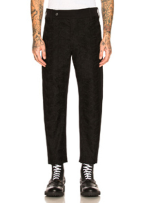 Ann Demeulemeester Flat Front Trousers in Black