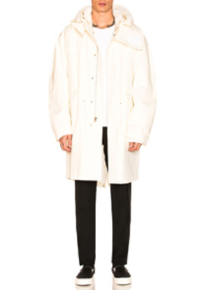 Helmut Lang Re-Edition Hooded Parka in White