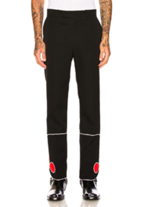 CALVIN KLEIN 205W39NYC Red Bottom Trousers in Black