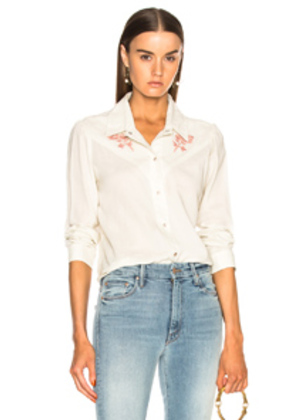 AMO Georgia Rose Top in Floral,White
