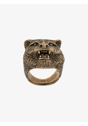 Gucci Brass Feline Motif Ring