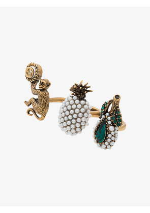 Gucci Trio ring with fruit and monkey motif
