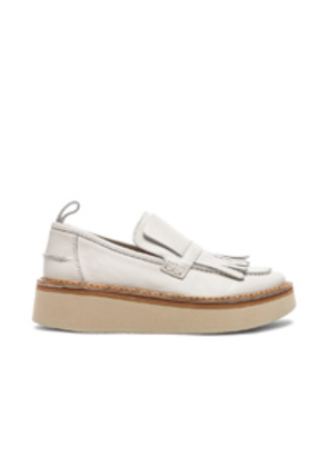 Flamingos Leather Trianon Loafers in White