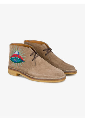 Gucci Suede boots with appliqués