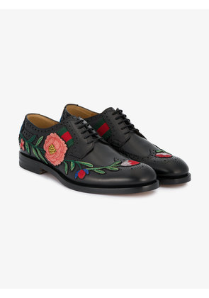 Gucci floral embroidered brogues