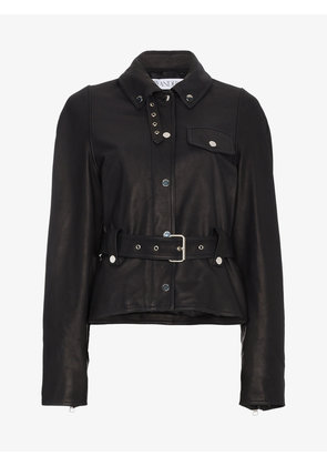 JW Anderson Belted Leather Jacket