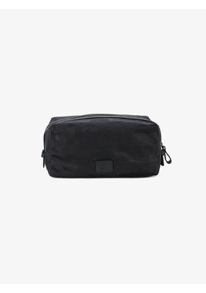 Valentino Large black camouflage nylon wash bag