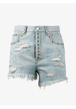 Gucci distressed fitted shorts