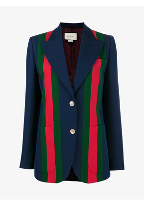 Gucci Striped Blazer With Front Buttons