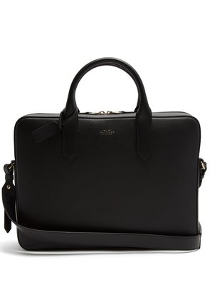 Panama leather briefcase