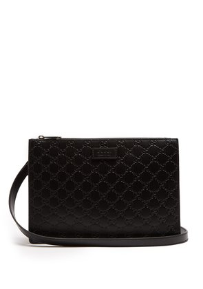 GG-debossed leather cross-body bag