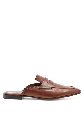 Blake leather backless loafers