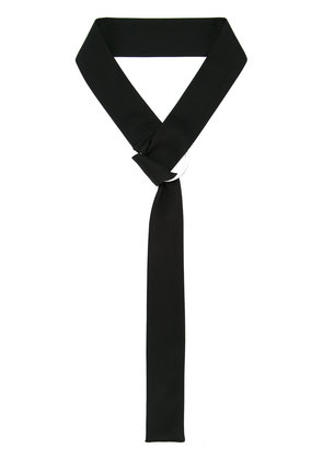 Taylor ring detail neck tie - Black