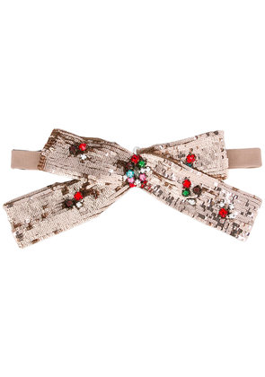 Gucci Sequin neck bow - Pink & Purple