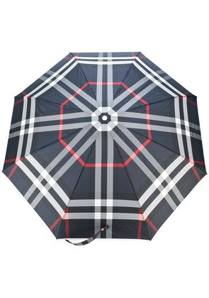 Burberry classic check print umbrella - Blue