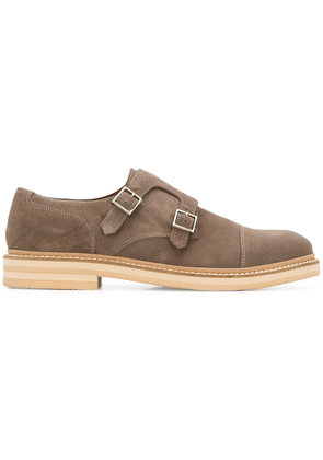 Eleventy buckle loafers - Brown