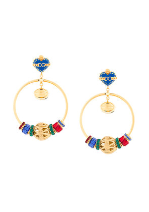 Dolce & Gabbana Sacred Heart hoop earrings - Multicolour