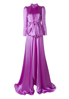 Gucci bow detail gown - Pink & Purple