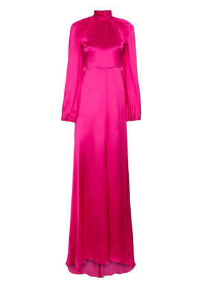 Gucci high neck silk maxi gown - Pink & Purple