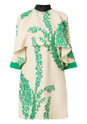 embroidered floral dress - Nude & Neutrals Fendi