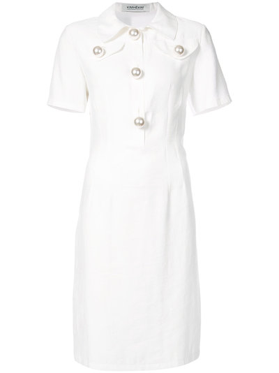 sleeveless shirt dress - White Kimhekim X4M4uMHEH0