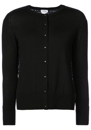 Akris Punto contrast panel cardigan - Blue